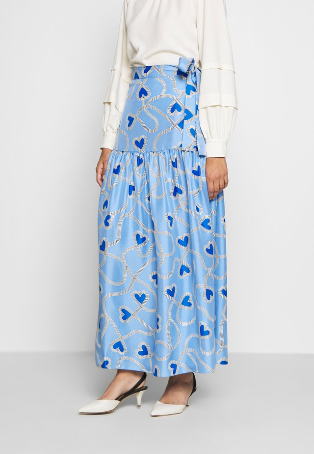 ANNI HEART SKIRT - Gonna lunga - sky blue