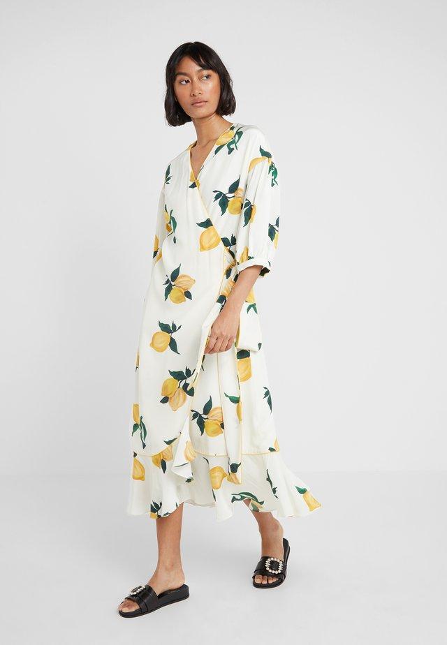 LEMON WRAP DRESS - Maxi dress - ivory