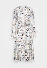 MARBLE BUTTON DOWN DRESS - Košilové šaty - ivory/multi