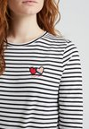 CHINTI & PARKER - TWIN HEART TEE - Long sleeved top - ivory/black