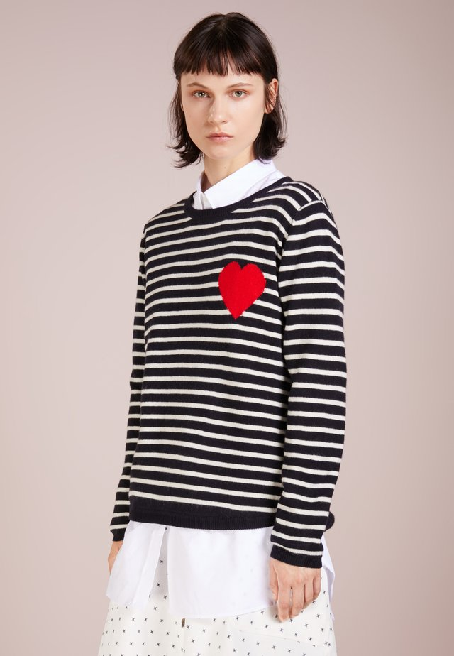 BRETON HEART  - Maglione - navy/cream/red