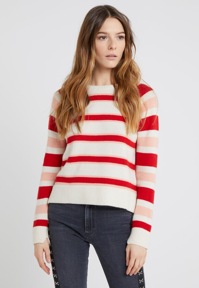 TRAPEZE SWEATER - Maglione - cream/multi