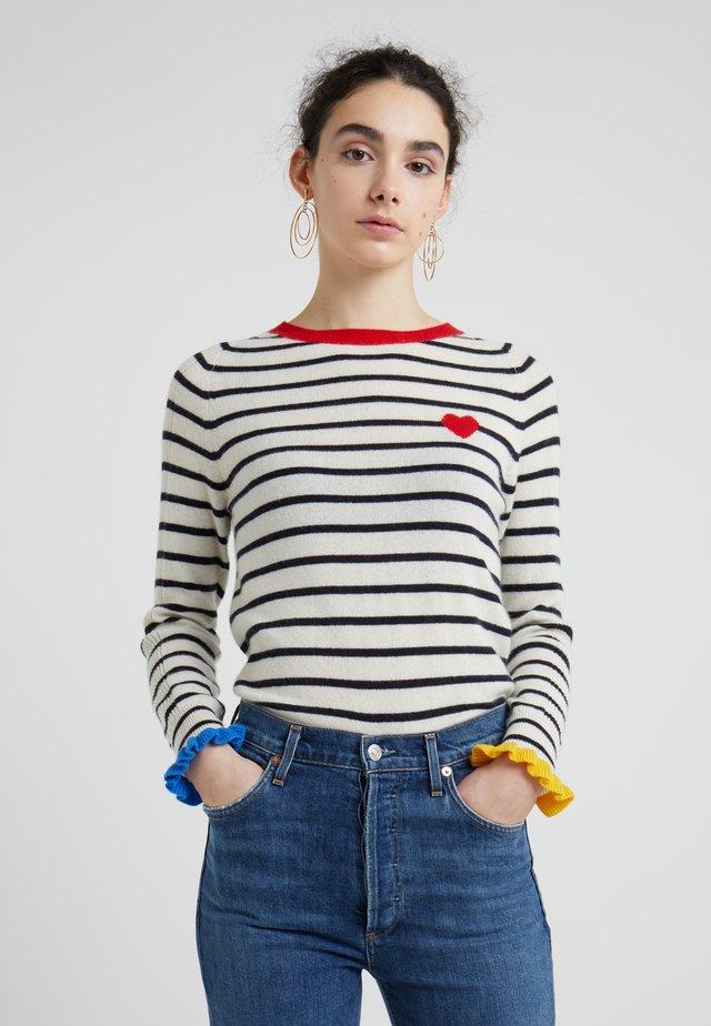 FRILL CUFF SWEATER - Stickad tröja - cream/multi