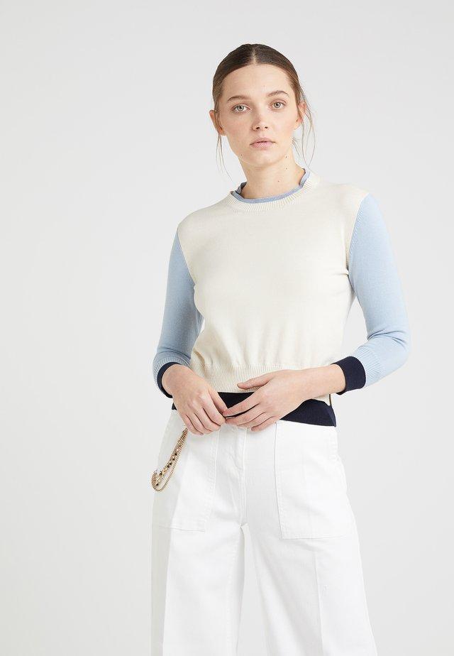 MARGARET  - Jumper - cream/blue/navy