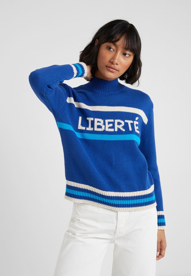 LIBERTE - Sweter - french navy/cream/turquoise