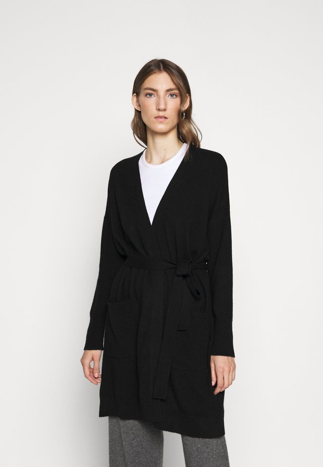 THE DUSTER CARDIGAN - Kardigan - black