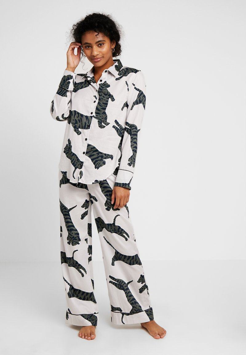 Chalmers - SUZIE SET - Pyjama set - tiger moon grey
