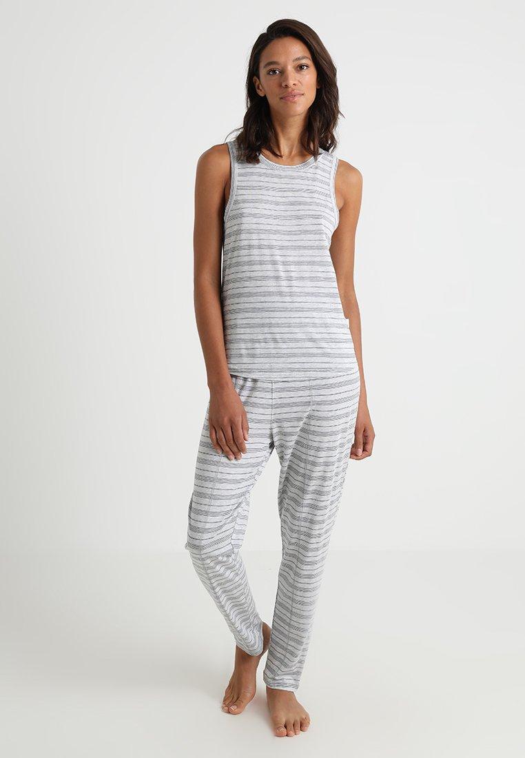 Chalmers - RAE SET - Pyjama set - ice grey/navy