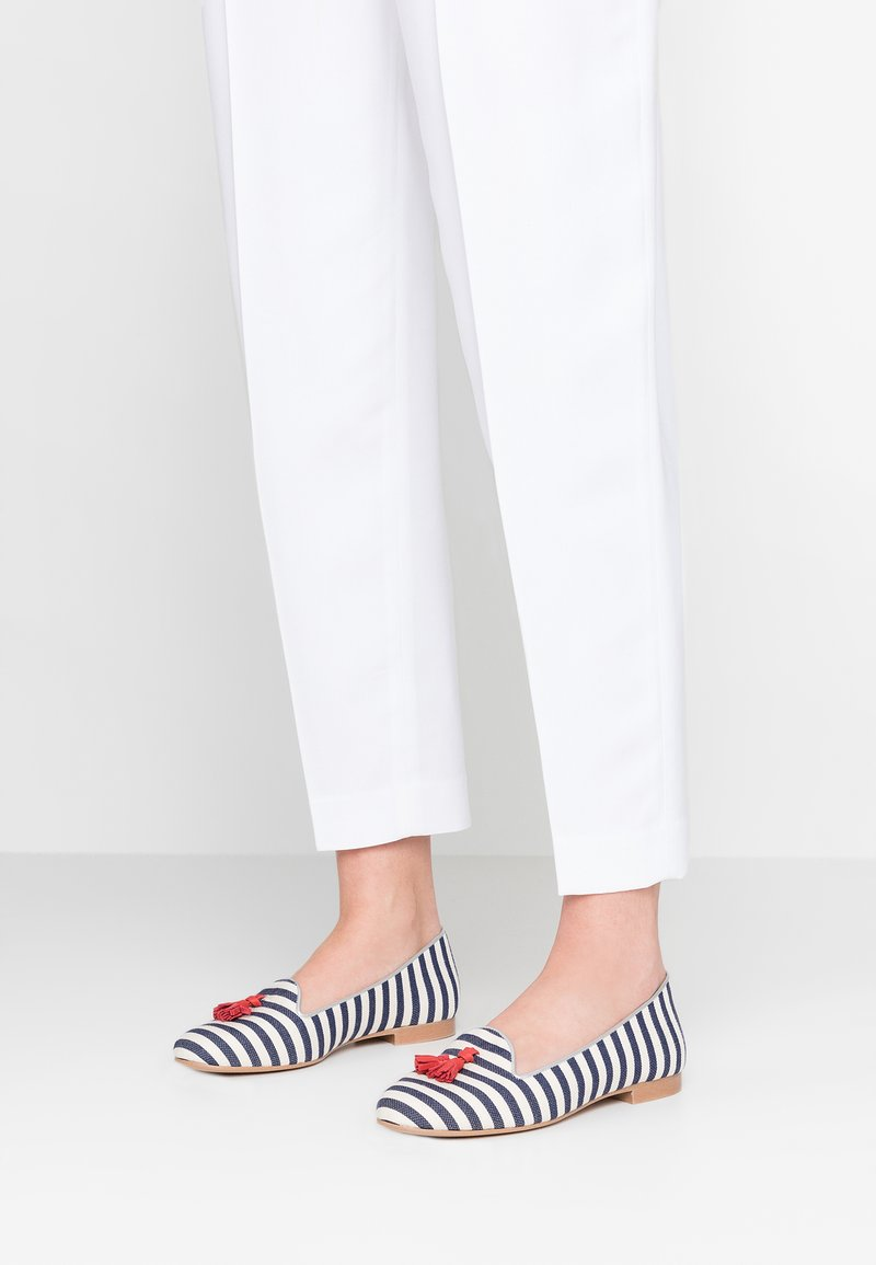Chatelles - THEODORE - Slip-ons - navy blue/white/red