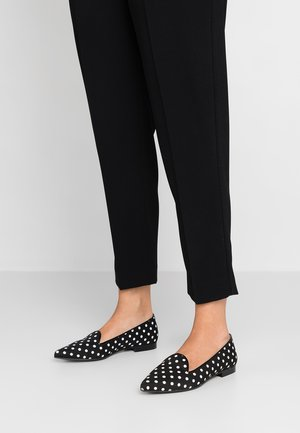 POLKA DOTS POINTY - Loafers - black/white