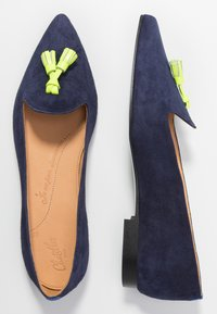 Chatelles - FRANÇOIS POINTY TASSELS - Baleríny - navy/neon yellow - 3