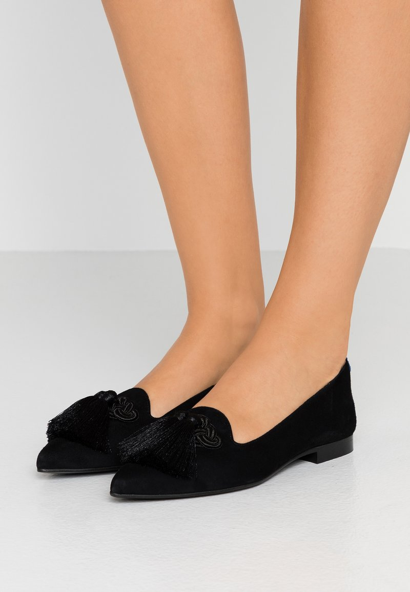 Chatelles - POINTY  BIG TASSEL - Slip-ons - black
