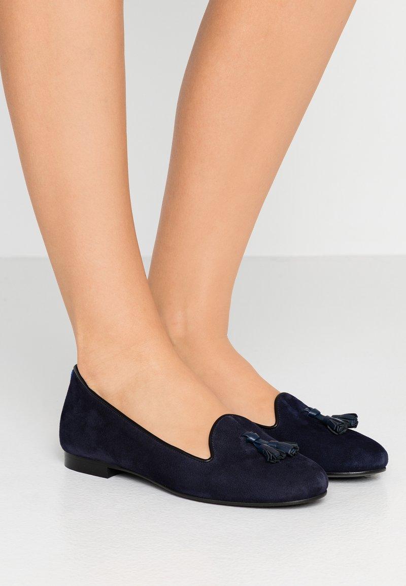 Chatelles - ERNEST CLASSIC TASSEL - Nazouvací boty - blue