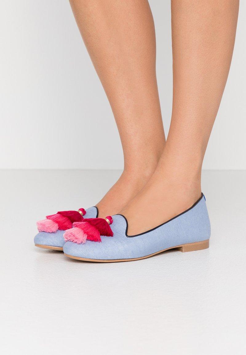 Chatelles - AUGUSTE - Nazouvací boty - light blue/pink