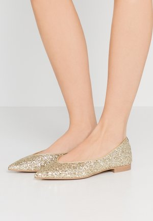 AMÉDÉE - Ballet pumps - light gold glitter