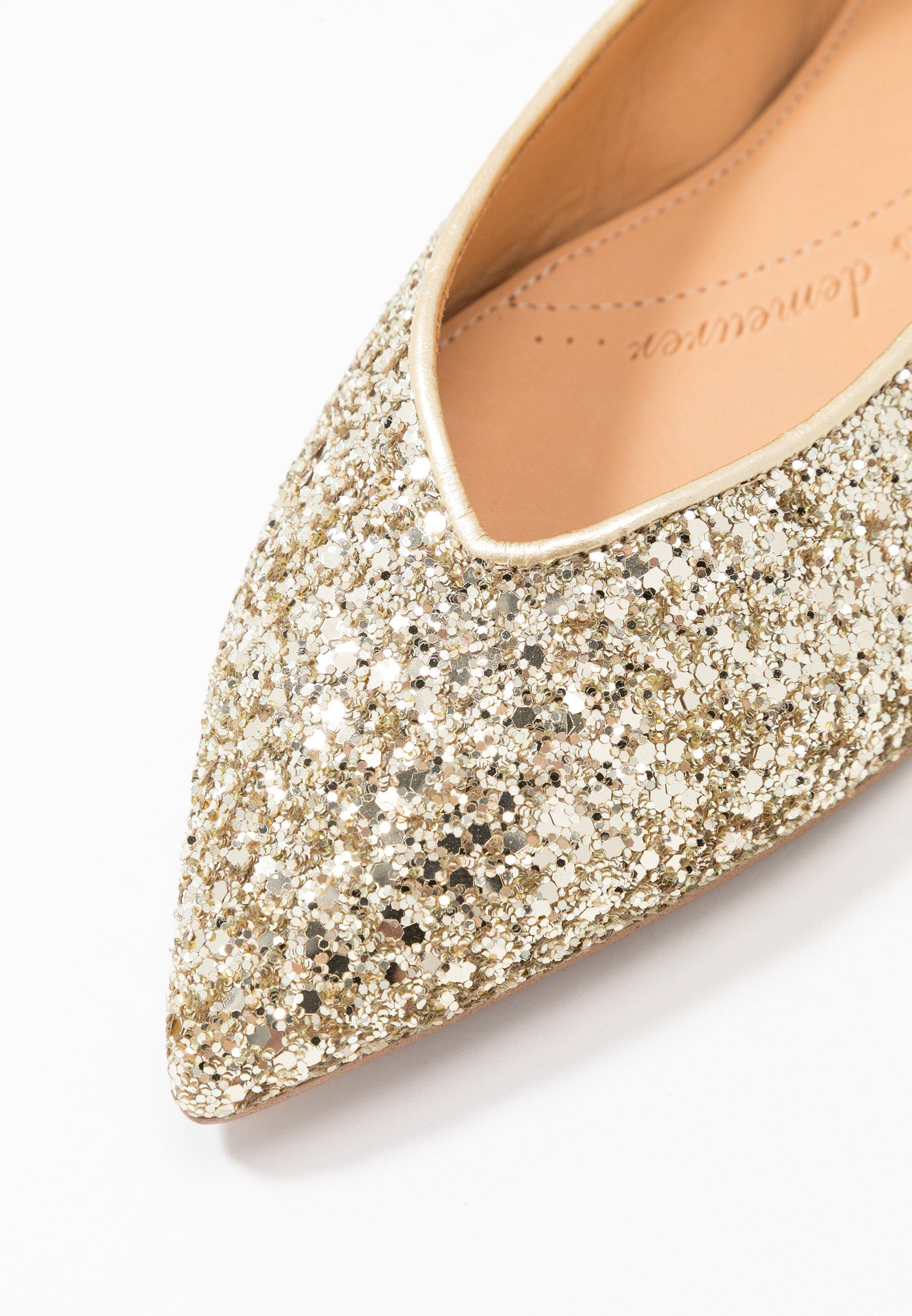 Chatelles AMÉDÉE - Klassischer  Ballerina - light gold glitter - Black Friday
