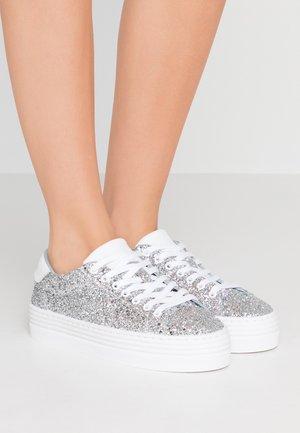 FLATFORM - Tenisky - silver glitter