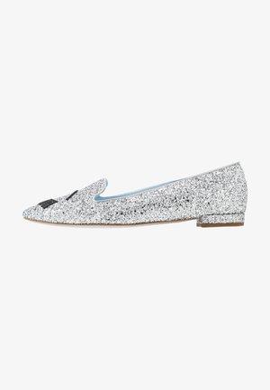 Slipper - silver glitter