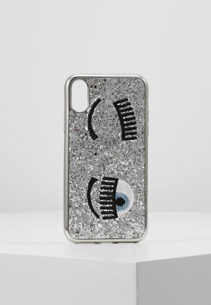 COVER FLIRTING GLITTER - Telefoonhoesje - silver