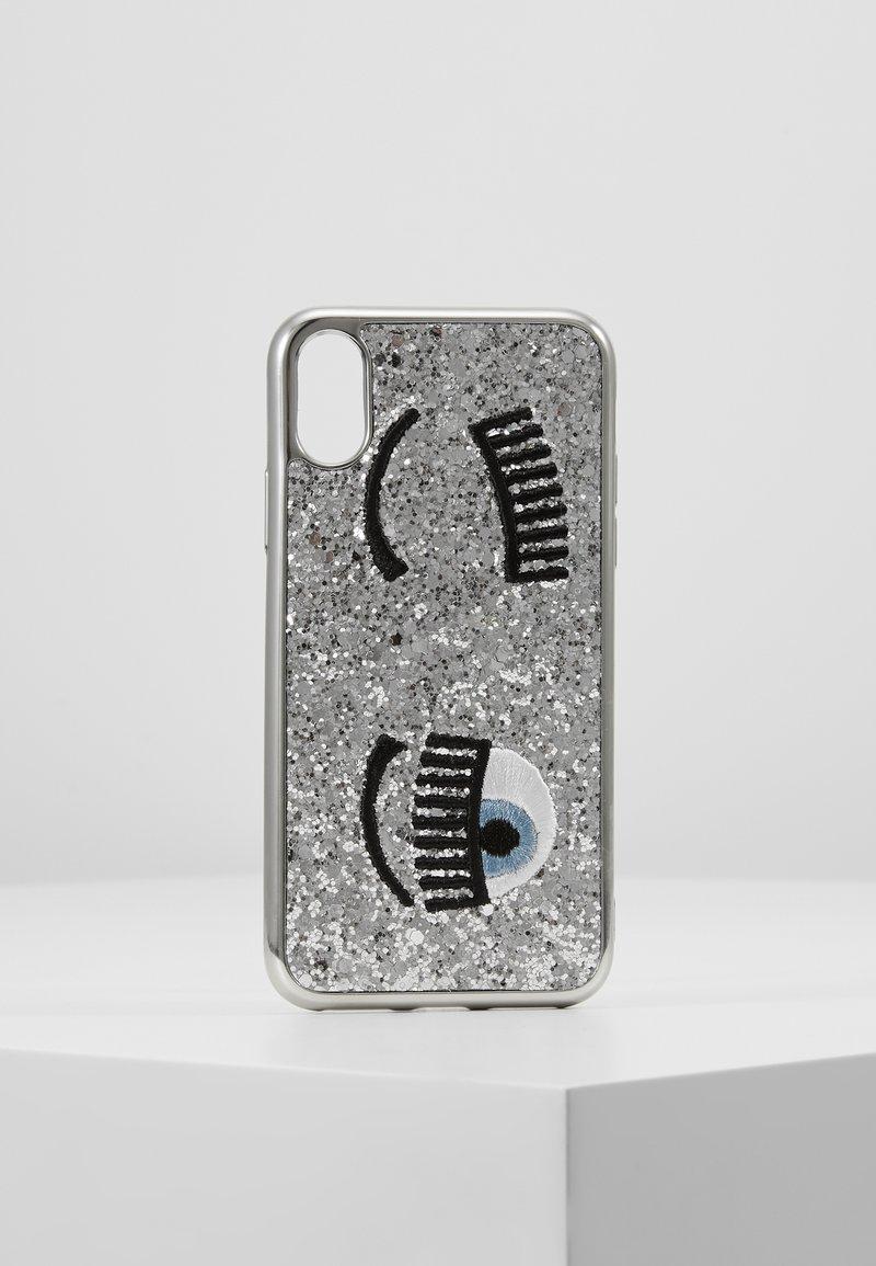 CHIARA FERRAGNI - COVER FLIRTING GLITTER - Étui à portable - silver