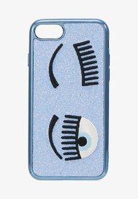 CHIARA FERRAGNI - FLIRTING GLITTER COVER IPHONE - Obal na telefon - blue - 1