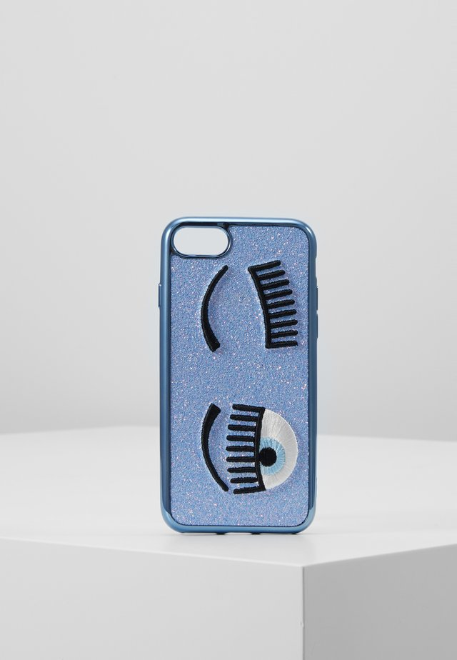 FLIRTING GLITTER COVER IPHONE - Phone case - blue