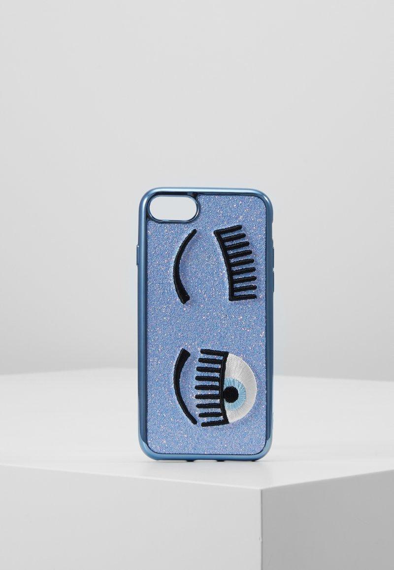 CHIARA FERRAGNI - FLIRTING GLITTER COVER IPHONE - Obal na telefon - blue