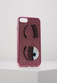 CHIARA FERRAGNI - FLIRTING GLITTER COVER IPHONE - Handytasche - pink - 0