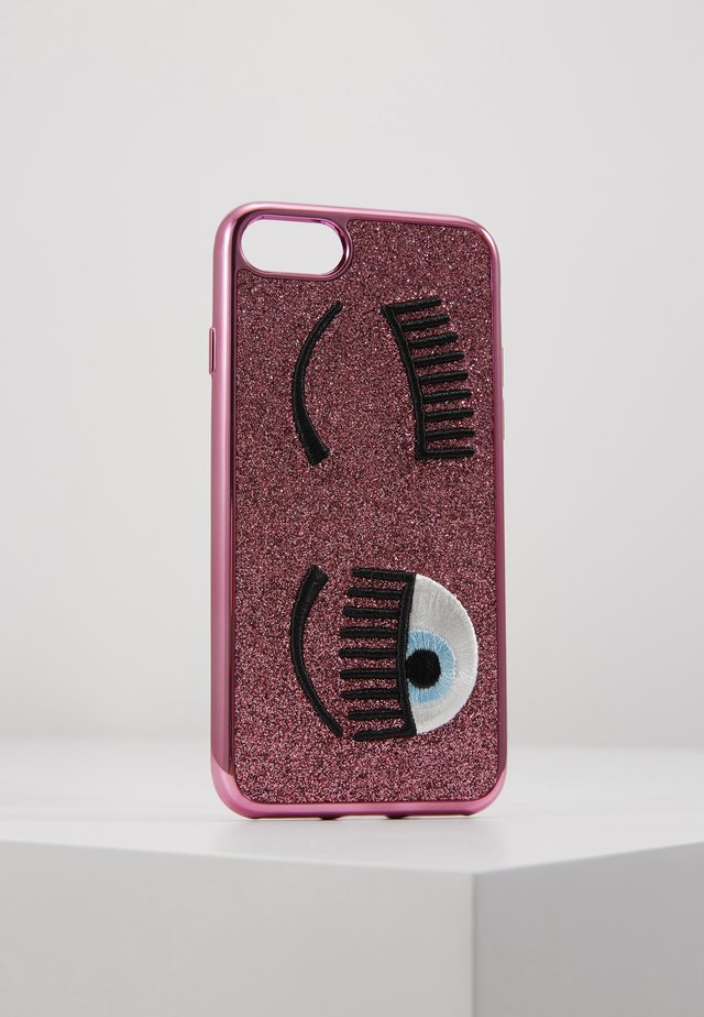 FLIRTING GLITTER COVER IPHONE - Handytasche - pink