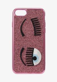 CHIARA FERRAGNI - FLIRTING GLITTER COVER IPHONE - Handytasche - pink - 1