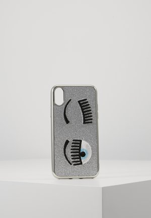 FLIRTING GLITTER COVER IPHONE - Handytasche - silver