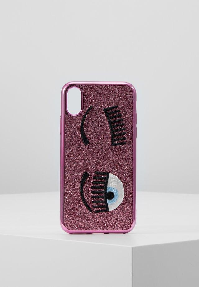 FLIRTING GLITTER COVER IPHONE - Kännykkäpussi - pink