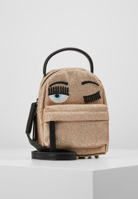 CHIARA FERRAGNI - FLIRTING GLITTER MINI BACK PACK - Batoh - gold - 4