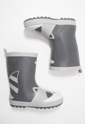 RIVER - Gummistiefel - black/grey