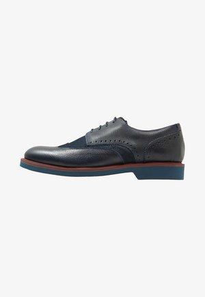 Smart lace-ups - navy blue