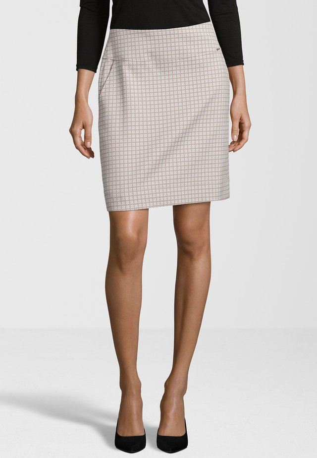 CICLEAN - A-line skirt - beige