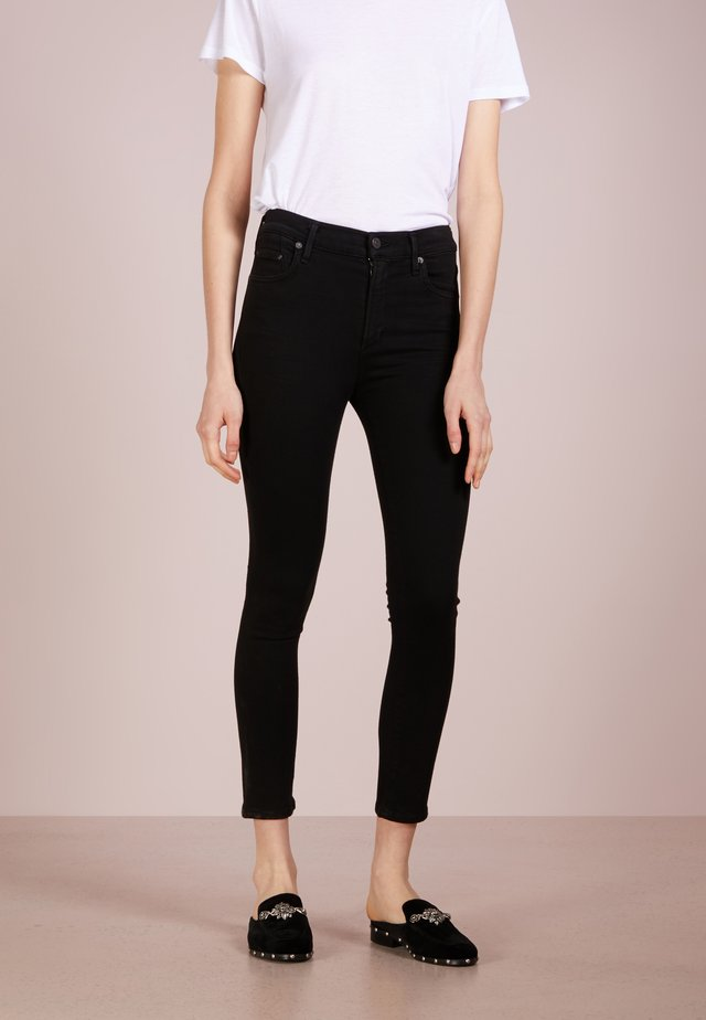 ROCKET CROPPED - Jeans Skinny Fit - all black sculpt