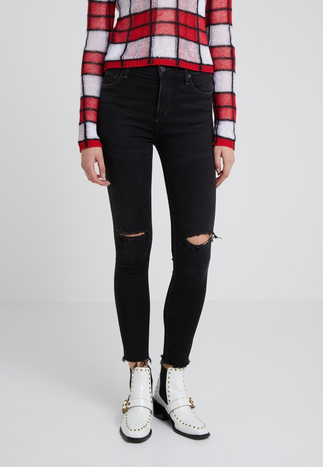 ROCKET CUT OFF ANKLE  - Jeans Skinny Fit - distressed darkness