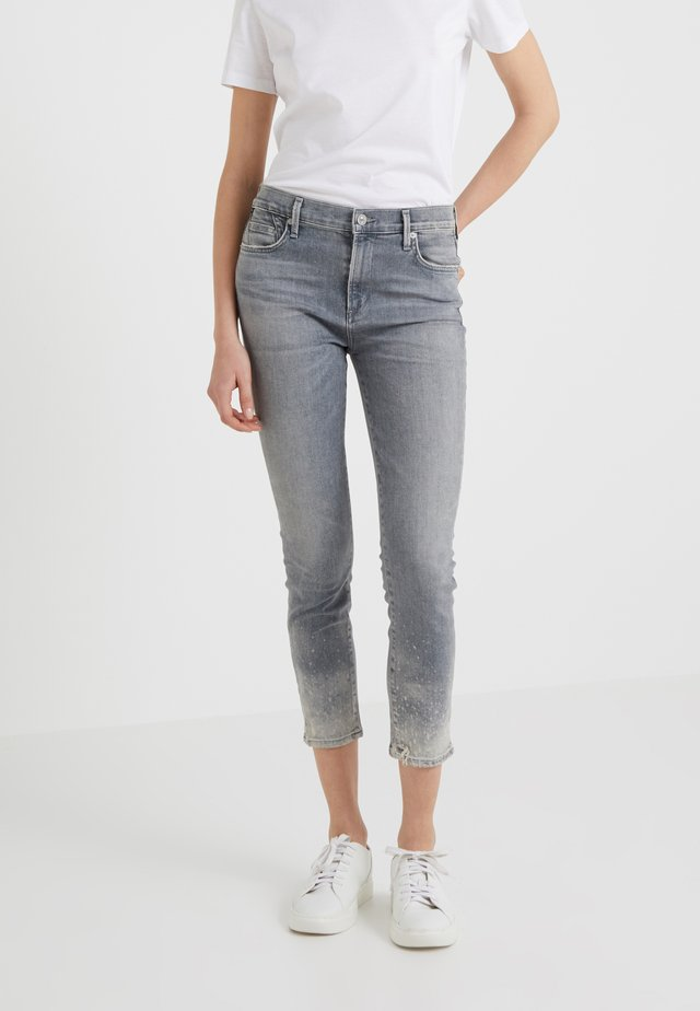 ROCKET CROP - Jeans Skinny Fit - salt stone