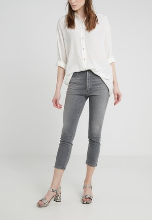 OLIVIA CROP HIGH RISE ANKLE - Straight leg jeans - granite