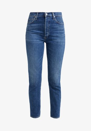 OLIVIA HIGH RISE ANKLE - Straight leg jeans - solo