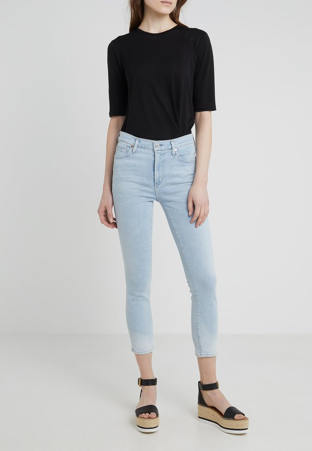 ROCKET CROP - Jeans Skinny Fit - high tide