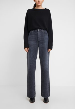 ANNINA - Relaxed fit jeans - fade to black