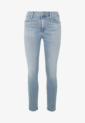 ROCKET CROP MID RISE  - Skinny džíny - blue denim