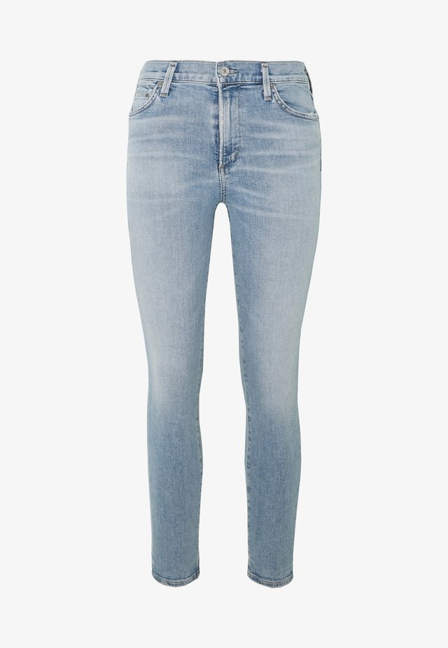 ROCKET CROP MID RISE  - Jeans Skinny - blue denim