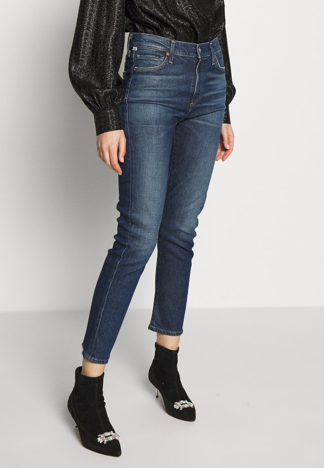 HARLOW ANKLE MID RISE  - Slim fit jeans - dark blue