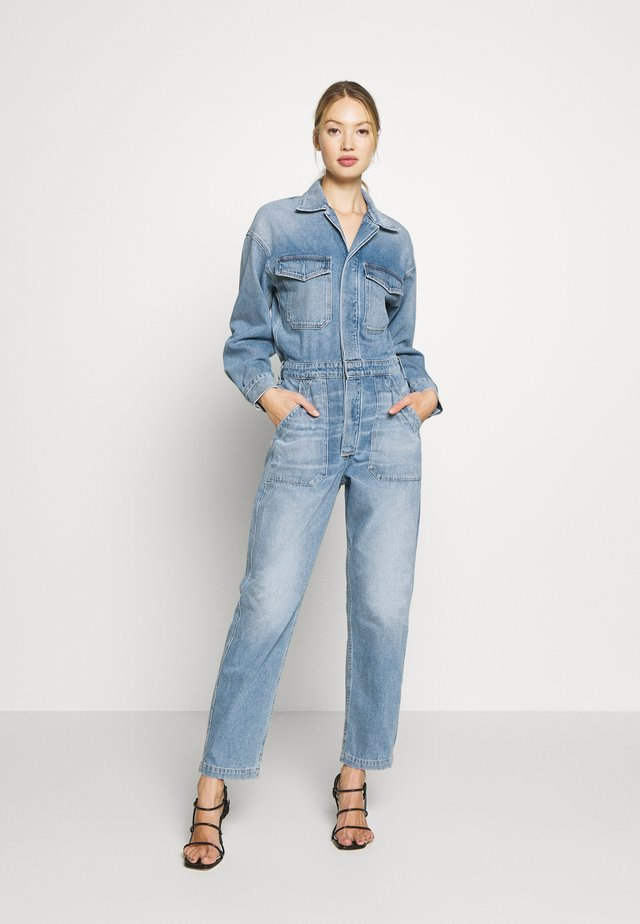 MARTA - Jumpsuit - dark blue denim