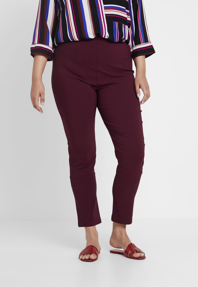 INTEGRATED WAIST - Trousers - tawny burgundy