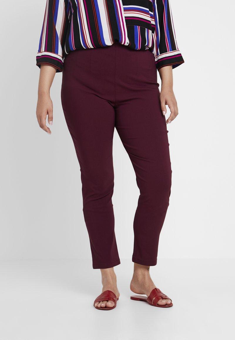 Ciso - INTEGRATED WAIST - Pantalones - tawny burgundy