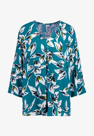 LEAF SLEEVE PLEAT FRONT BLOUSE - Camicetta - atlantic green